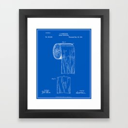 Toilet paper roll patent blueprint art print by finlaymcnevin toilet paper roll patent blueprint framed art print malvernweather Image collections