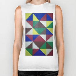 Geometric Triangles Biker Tank