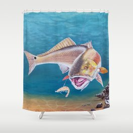 Fish On! Shower Curtain