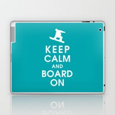 Keep Calm and Board On Laptop & iPad Skin