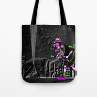 edm Tote Bags featuring Fear and Loathing EDM by Rishi Parikh