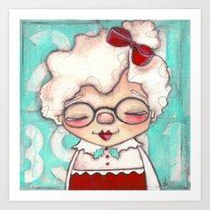 Mrs. Claus Art Print