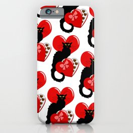 Le Chat Noir with Chocolate Candy Gift iPhone Case