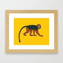 The Intelligent Monkey Framed Art Print