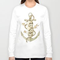 pirates Long Sleeve T-shirts featuring Three Missing Pirates by Mike Koubou