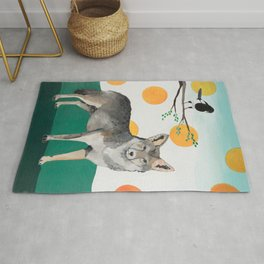 Coyote and Magpie Rug