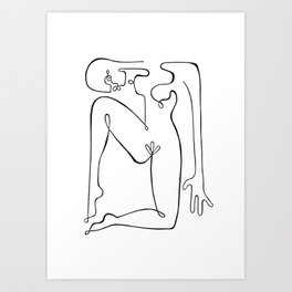 Naked Woman after Picasso Art Print