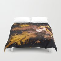 football Duvet Covers featuring Football by Frauste