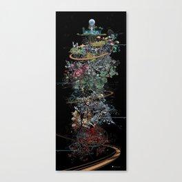 Chronogram Library of Paradises Canvas Print