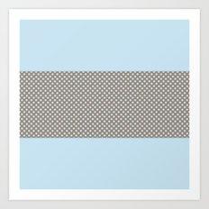 Polka Dots and Power Blue Art Print