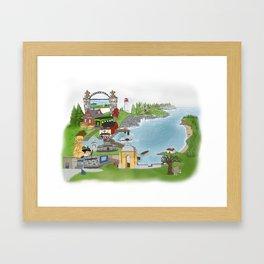 Louisbourg Illustrated in Color Framed Art Print