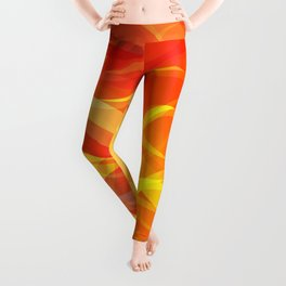 Theme of fire for the banner. Bright red and orange glare on a gentle background for a fabric or pos Leggings