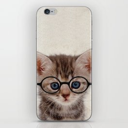 Kitten with Glasses iPhone Skin