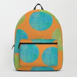 Batik Dots Lime and Teal Circle Pattern Backpack