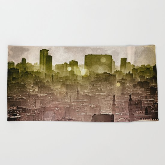 Sunset over Cairo II Beach Towel
