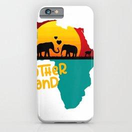 Motherland Black Love Elephant Juneteenth Design T-Shirt iPhone Case