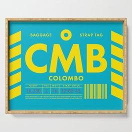 Baggage Tag D - CMB Colombo Sri Lanka Serving Tray