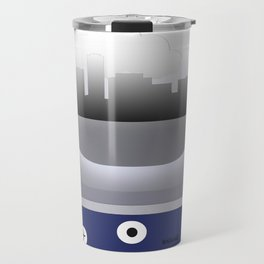 LONG BEACH - LBG - AIRPORT CODE AND SKYLINE Travel Mug