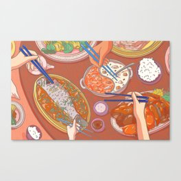 An Asian Feast Canvas Print