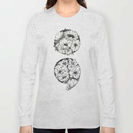floral semicolon Long Sleeve T-shirt