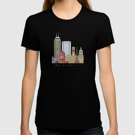 Indianapolis skyline poster T-shirt