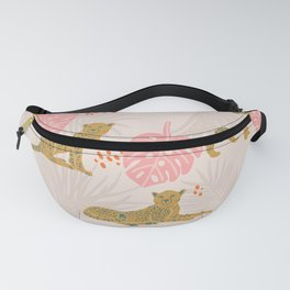 Pink Palm Tropical Cheetah Pattern Fanny Pack