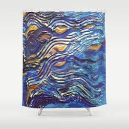 Abstract nautical background Shower Curtain