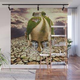 Inhabited Head Wall Mural