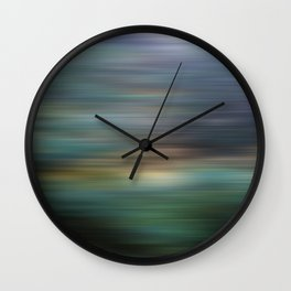 Trees in Sunset Wall Clock