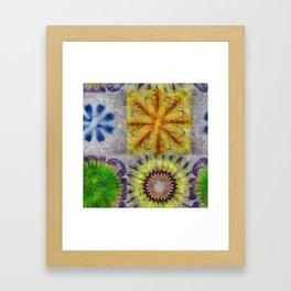 Mudcapped Feeling Flower  ID:16165-015150-26640 Framed Art Print