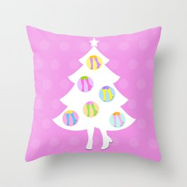 Christmas Tree #3 Throw Pillow