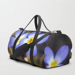 Four tiny bluet flowers Duffle Bag
