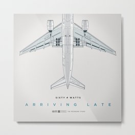 Arriving Late Metal Print