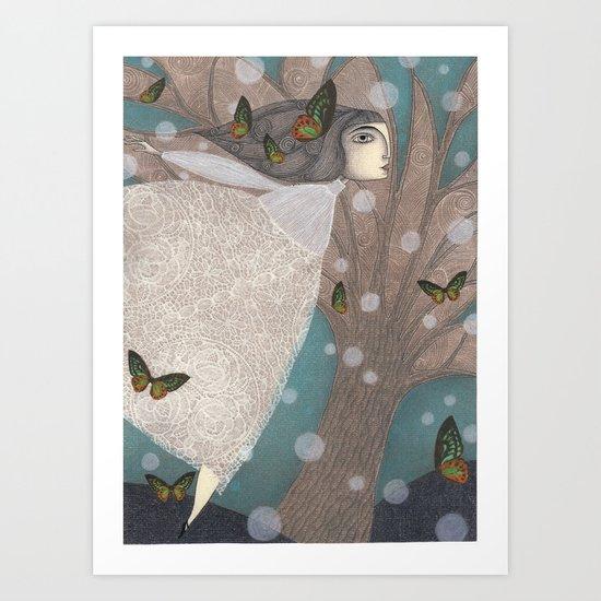 Finding Winter Art Print