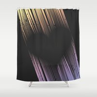 cartoons Shower Curtains featuring The Heart by Metron