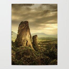 Meteora (Greek Landscape) Poster