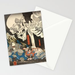 Utagawa Kuniyoshi - Takiyasha the Witch and the Skeleton Spectre Stationery Cards