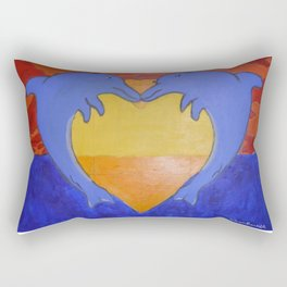Dolphin love Rectangular Pillow