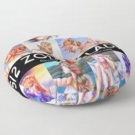 12 Zodiac Ladies Floor Pillow