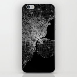 Detroit map  iPhone Skin