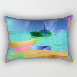 View of The Lady In Waiting Rectangular Pillow
