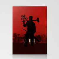 evil dead Stationery Cards featuring The Evil Dead by Bill Pyle