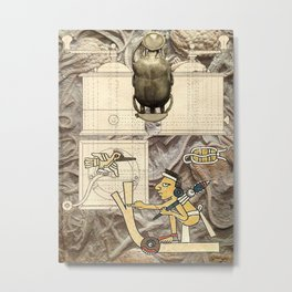 Fossil Coffee Grinder Metal Print