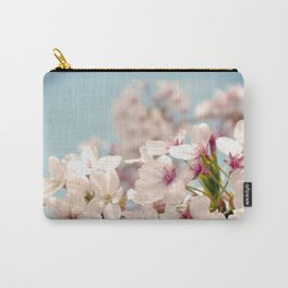 Spring, Flower Photography, Pastel, Pink, Romantic Cherry Blossom, Art Deco - 8 x 10 Wall Decor Carry-All Pouch
