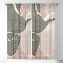 Nomade I. Illustration Sheer Curtain