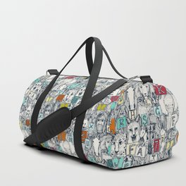 animal ABC indigo multi Duffle Bag