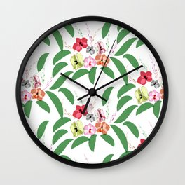 Orchid pattern 4 Wall Clock