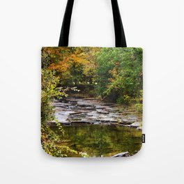 Fall Creek Landscape Tote Bag