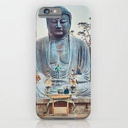 Ogawa Kazumasa - The Bronze Buddha at Kamakura iPhone Case