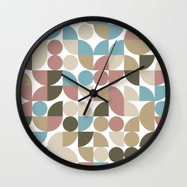 Playful Geometric Pattern Autumn Wall Clock